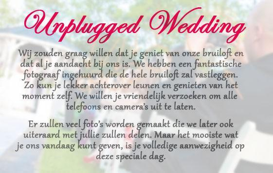 bruiloft trends 2015 wedding unplugged